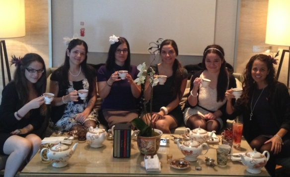 High Tea with Family- pinkys up!
